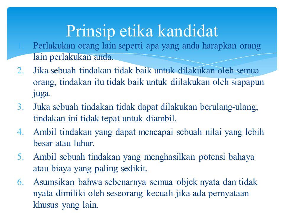 Prinsip etika kandidat
