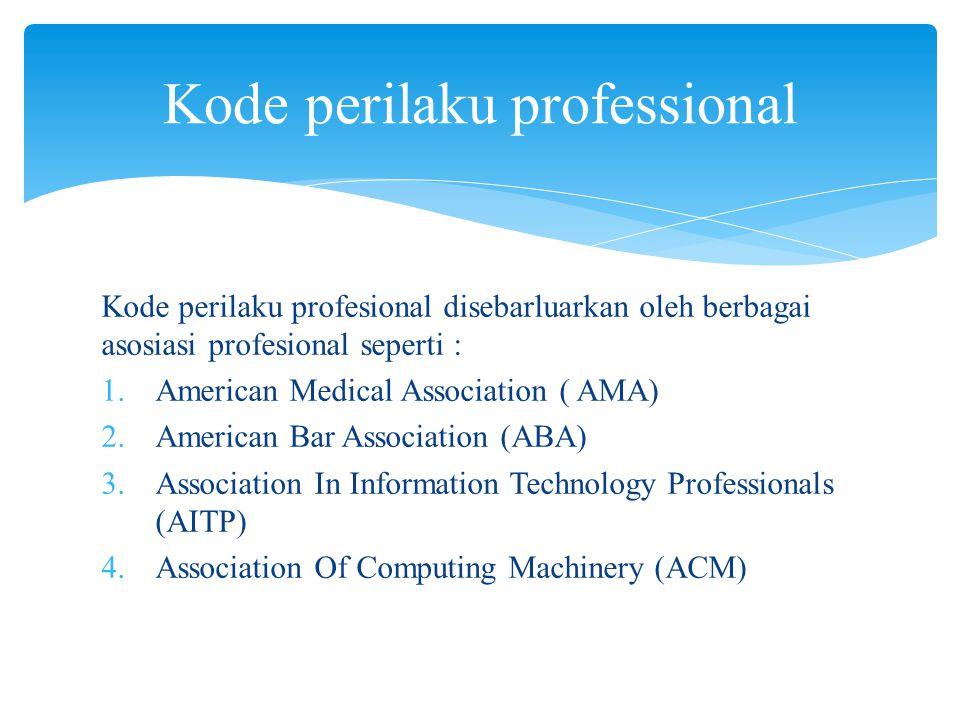 Kode perilaku professional