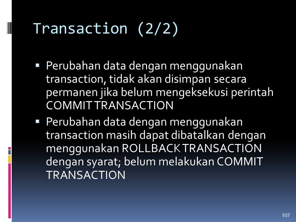 Transaction (2/2)