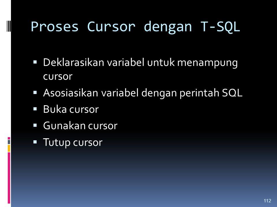 Proses Cursor dengan T-SQL