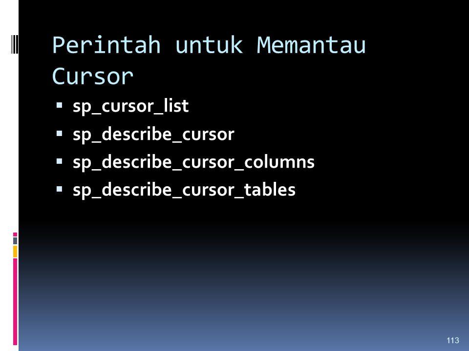 Perintah untuk Memantau Cursor