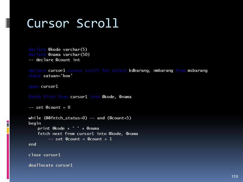 Cursor Scroll