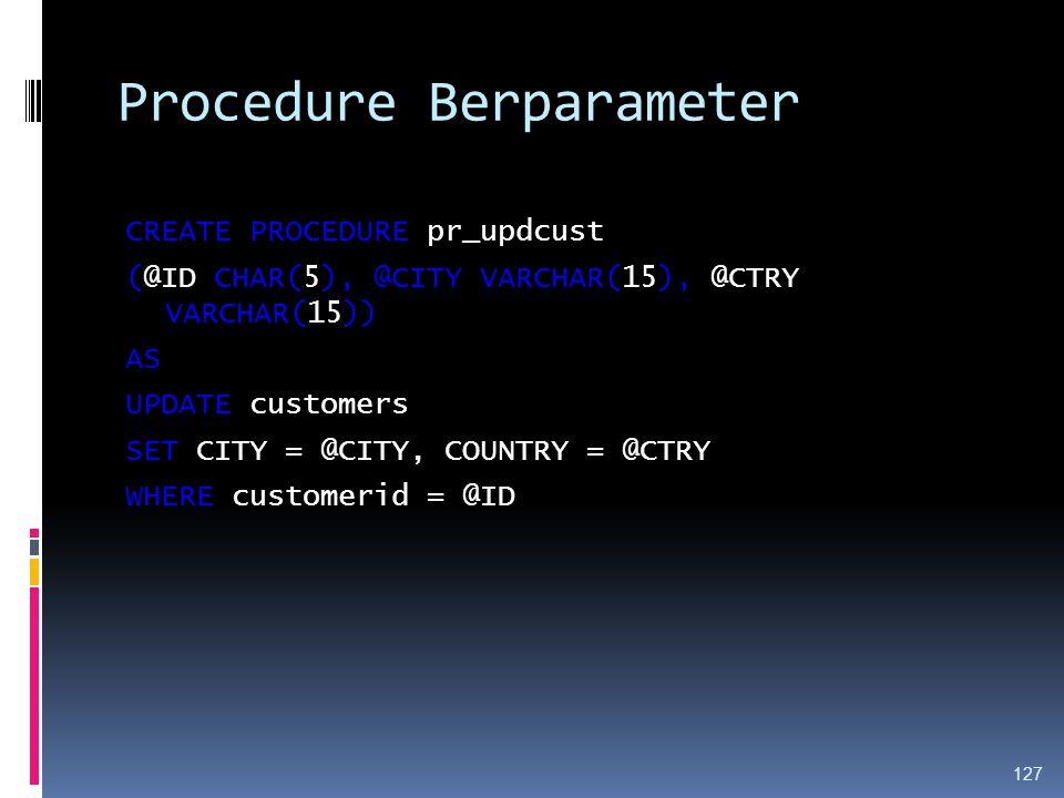 Procedure Berparameter