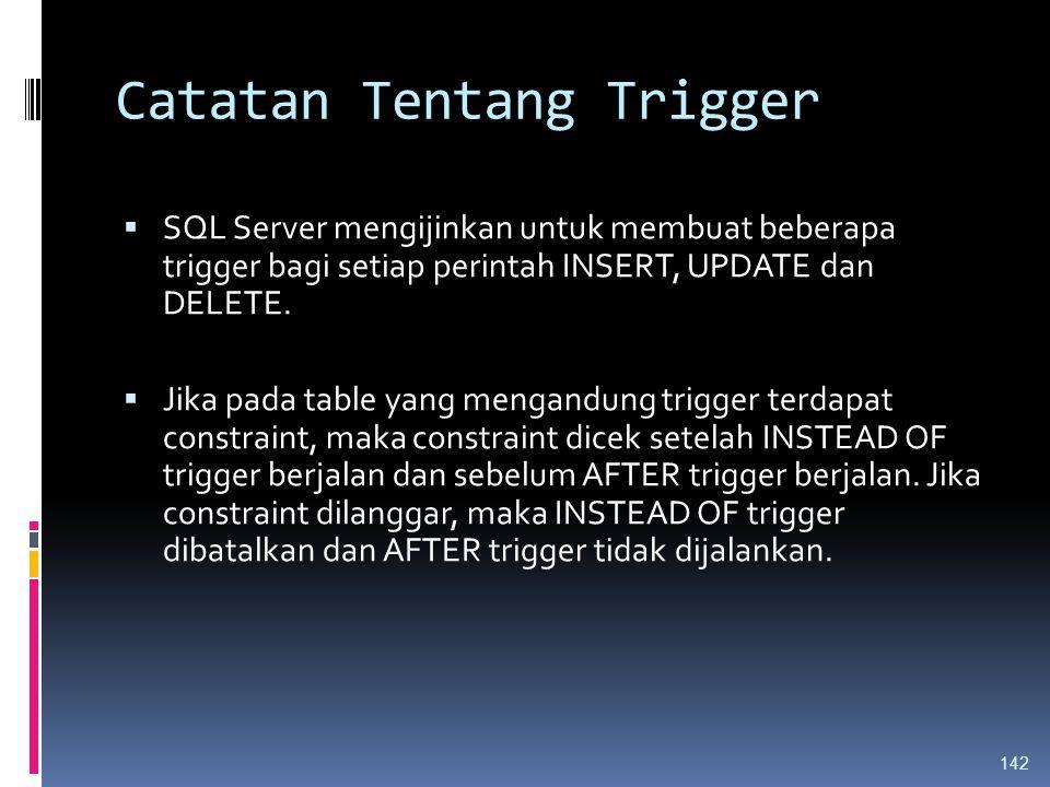 Catatan Tentang Trigger