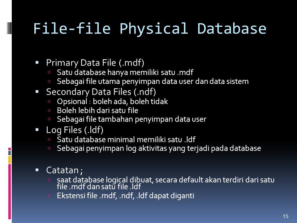 File-file Physical Database