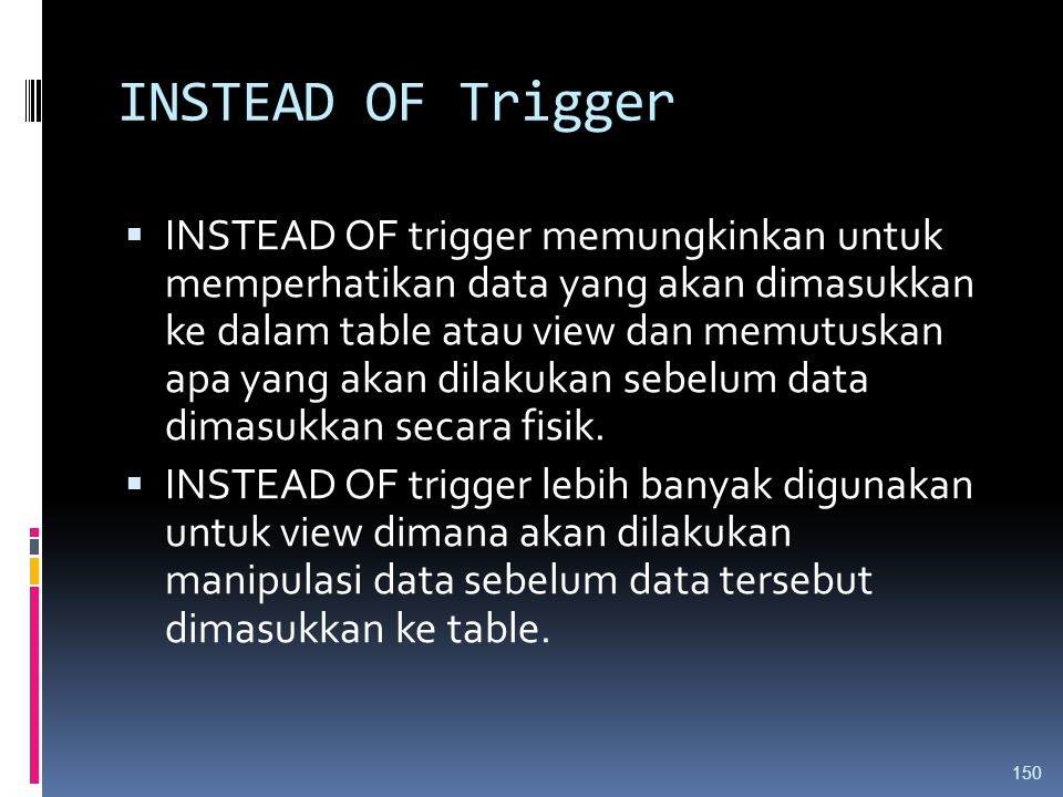 INSTEAD OF Trigger