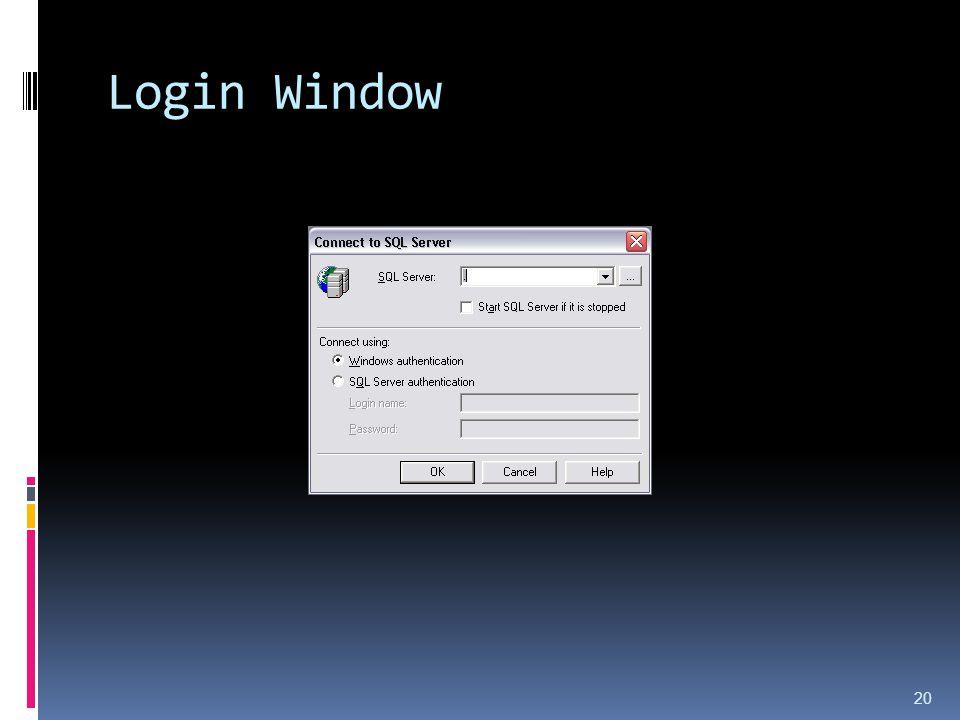 Login Window