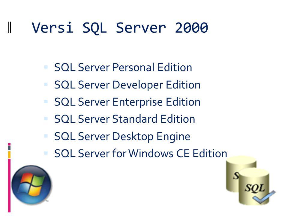 Versi SQL Server 2000 SQL Server Personal Edition