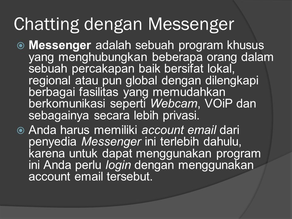 Chatting dengan Messenger