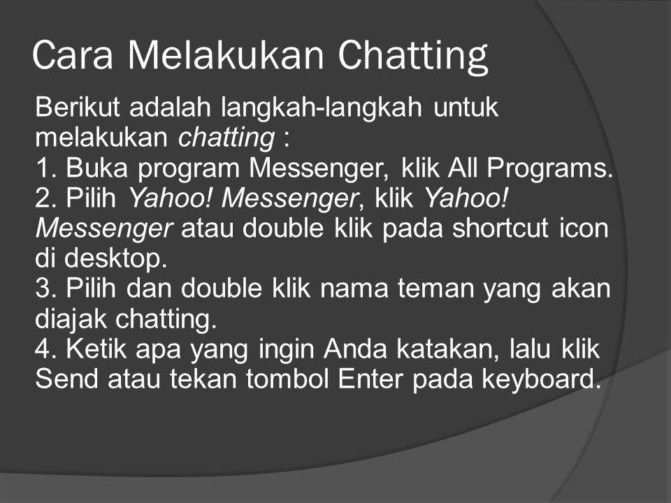 Cara Melakukan Chatting
