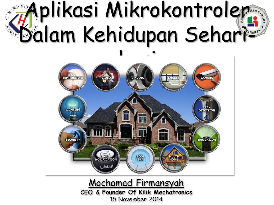 Aplikasi Mikrokontroler Dalam Kehidupan Sehari-hari