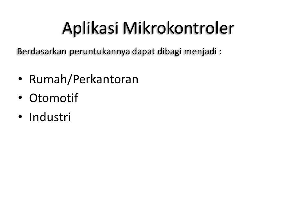 Aplikasi Mikrokontroler