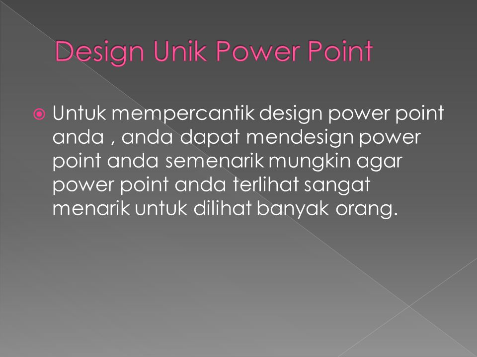 Design Unik Power Point
