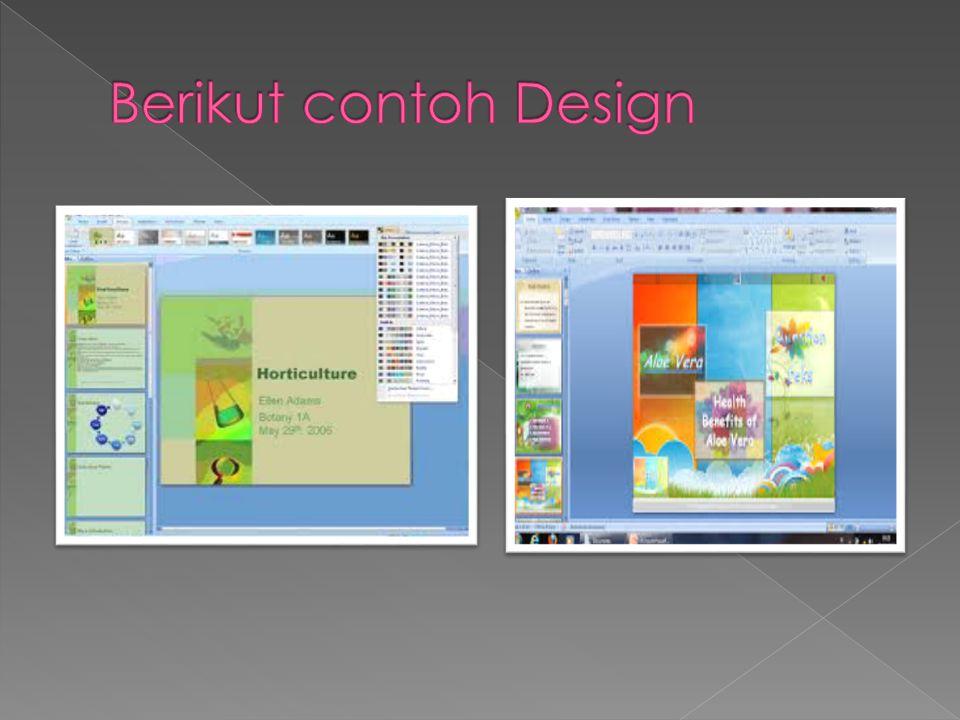 Berikut contoh Design