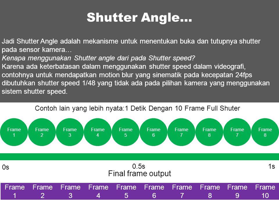 Shutter Angle… Final frame output