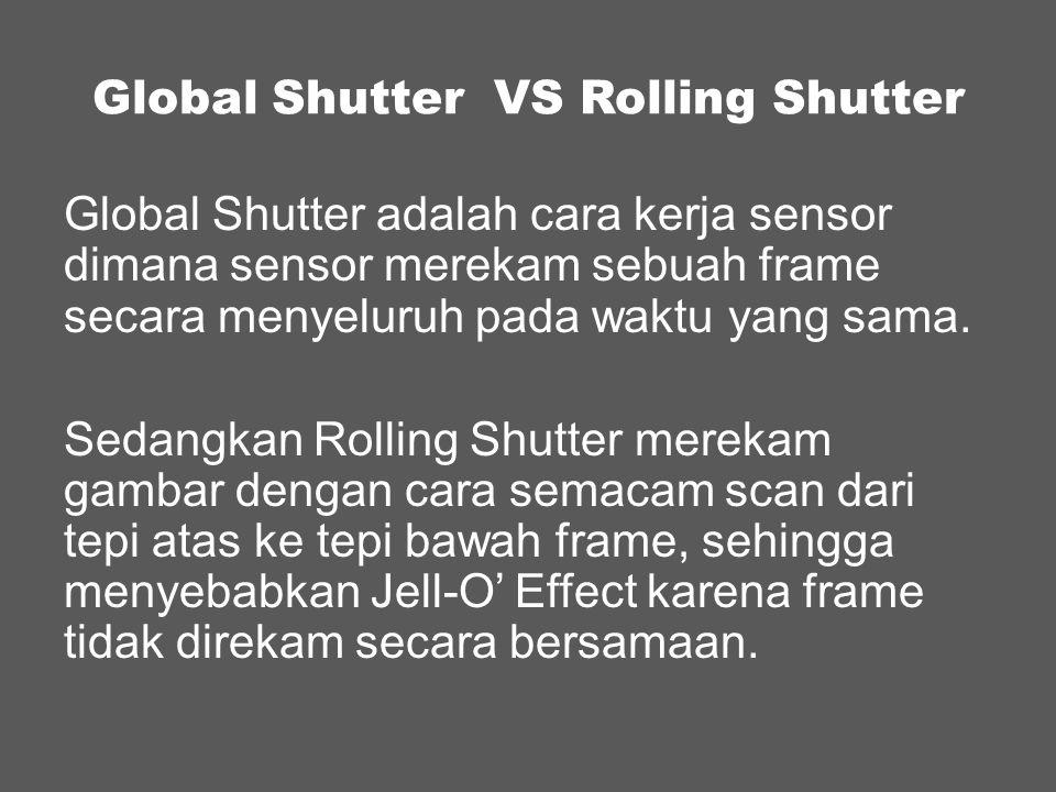 Global Shutter VS Rolling Shutter