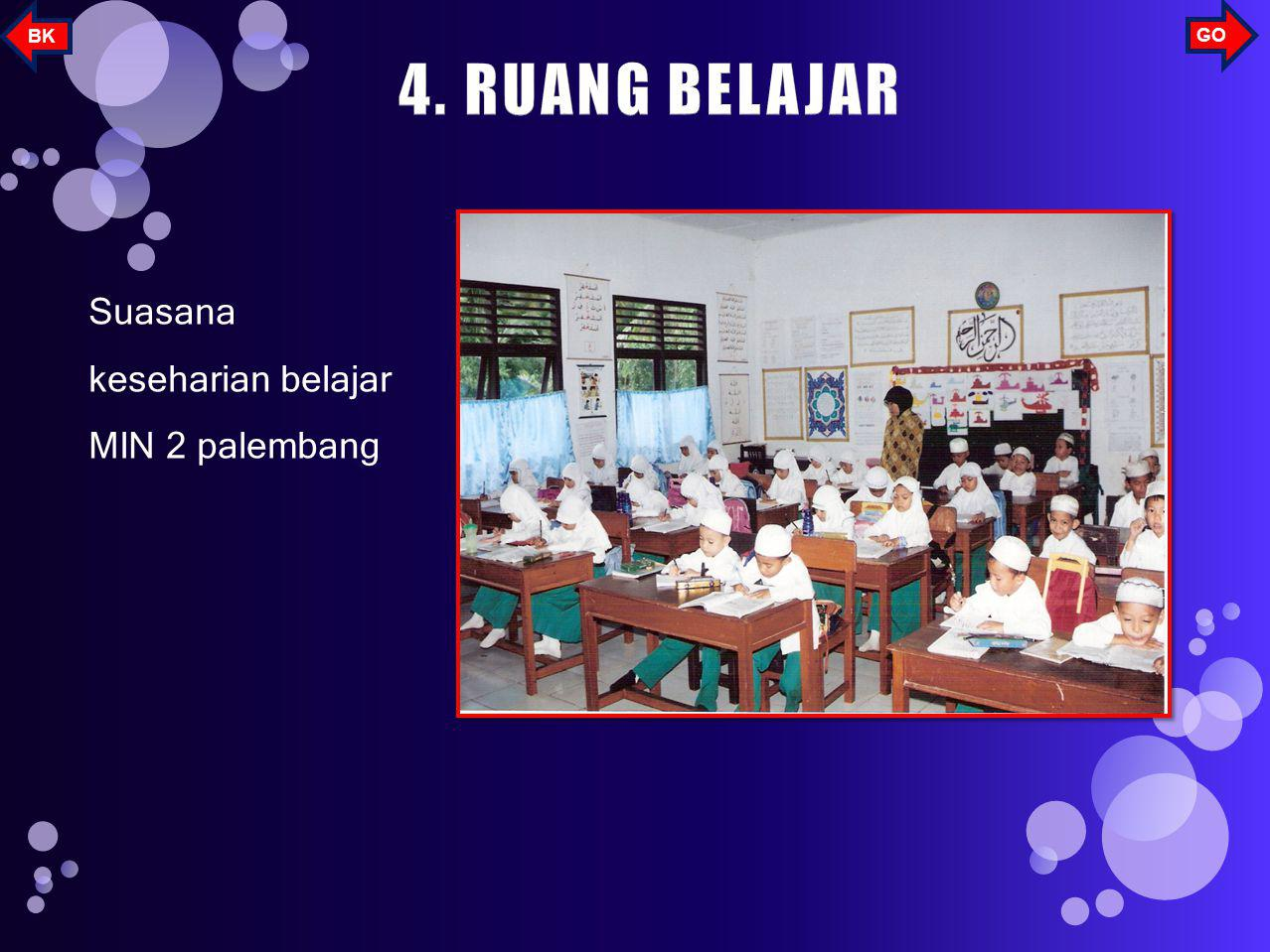 BK GO 4. RUANG BELAJAR Suasana keseharian belajar MIN 2 palembang