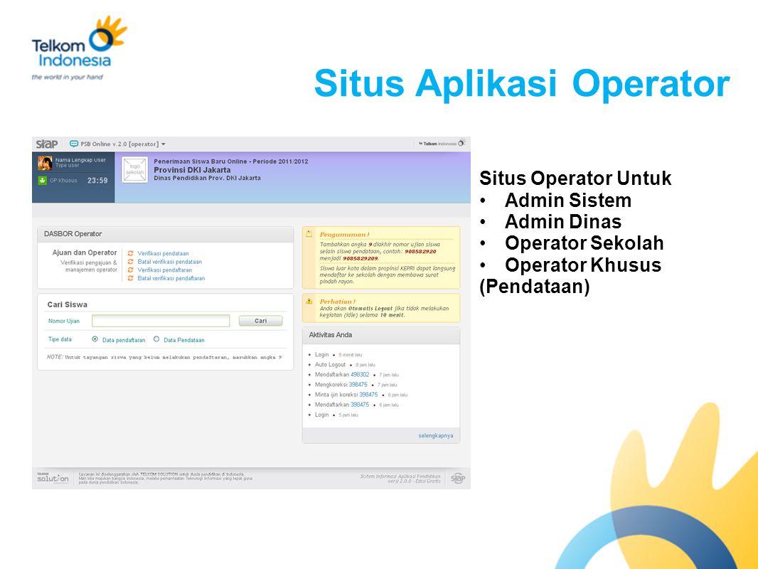 Situs Aplikasi Operator