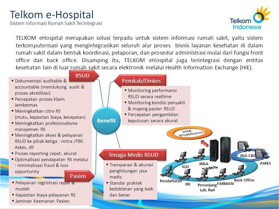Telkom e-Hospital Sistem Informasi Rumah Sakit Terintegrasi