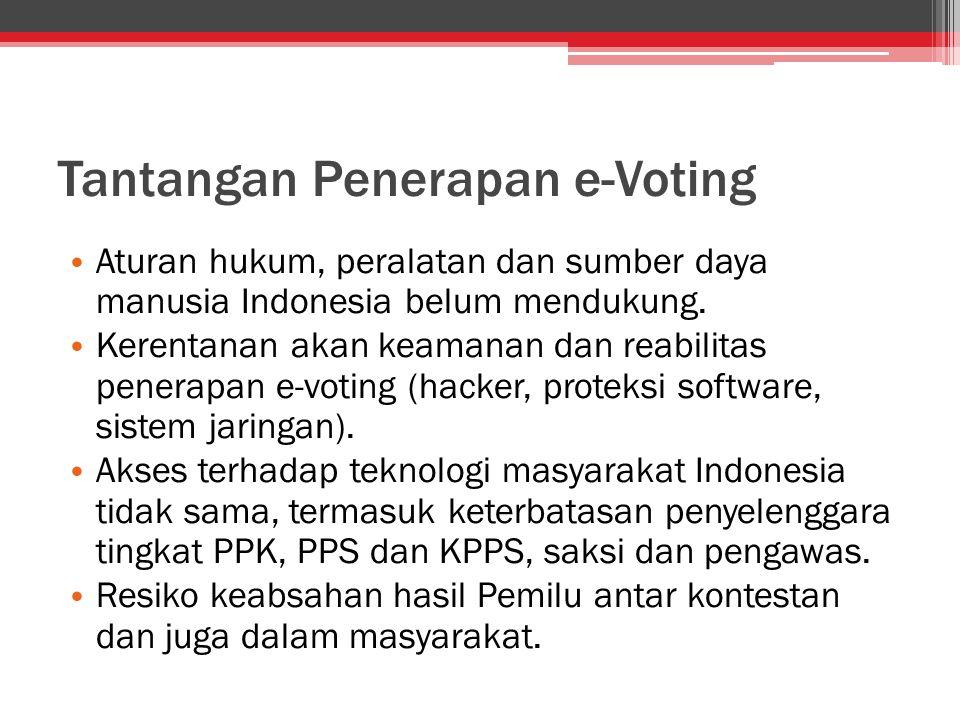 Tantangan Penerapan e-Voting