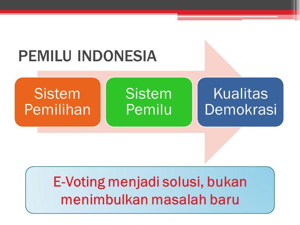 E-Voting menjadi solusi, bukan menimbulkan masalah baru