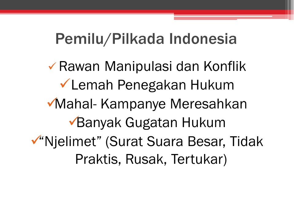 Pemilu/Pilkada Indonesia