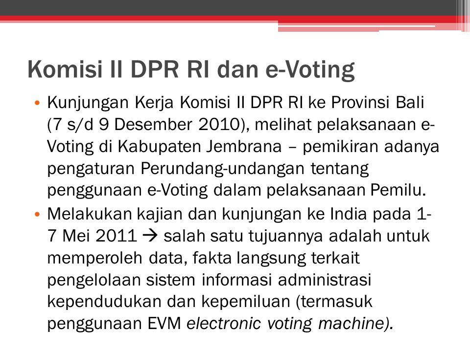Komisi II DPR RI dan e-Voting