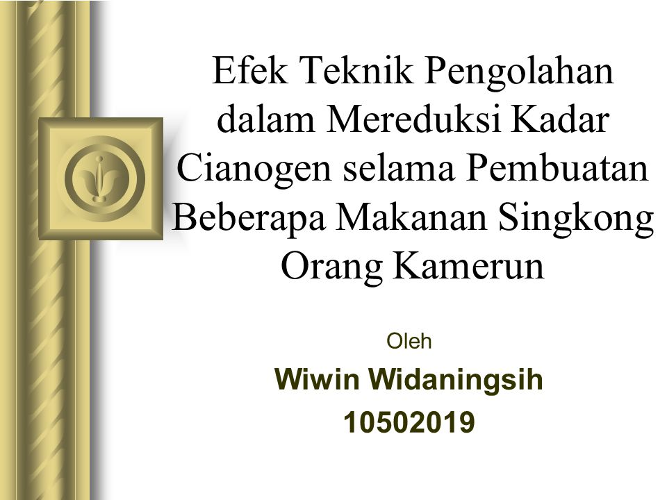 Oleh Wiwin Widaningsih 10502019