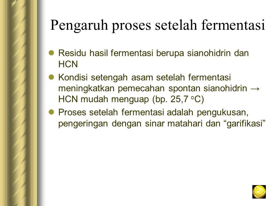 Pengaruh proses setelah fermentasi