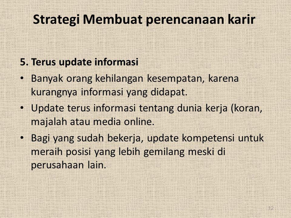 Strategi Membuat perencanaan karir