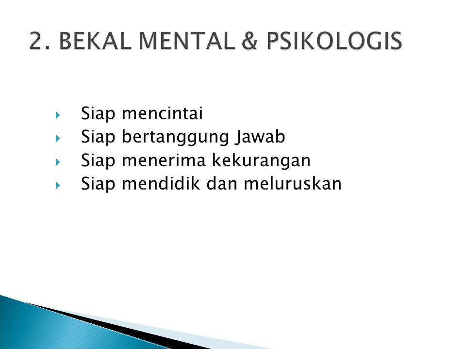2. BEKAL MENTAL & PSIKOLOGIS