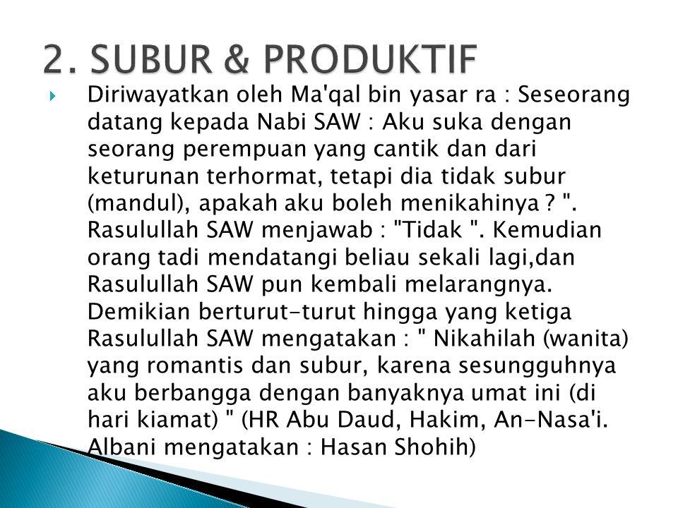 2. SUBUR & PRODUKTIF