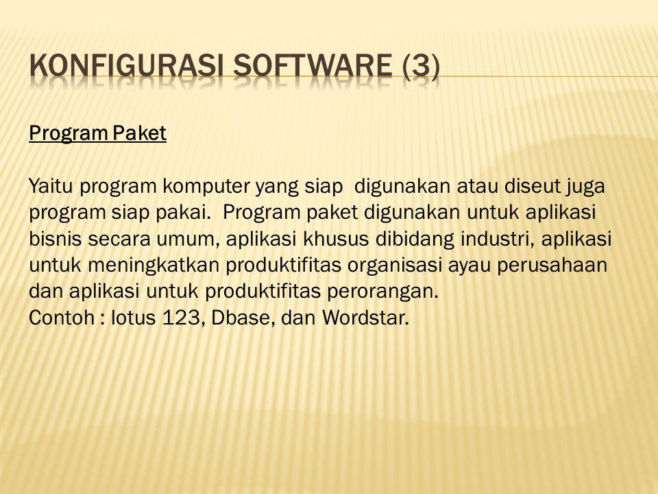 Konfigurasi software (3)