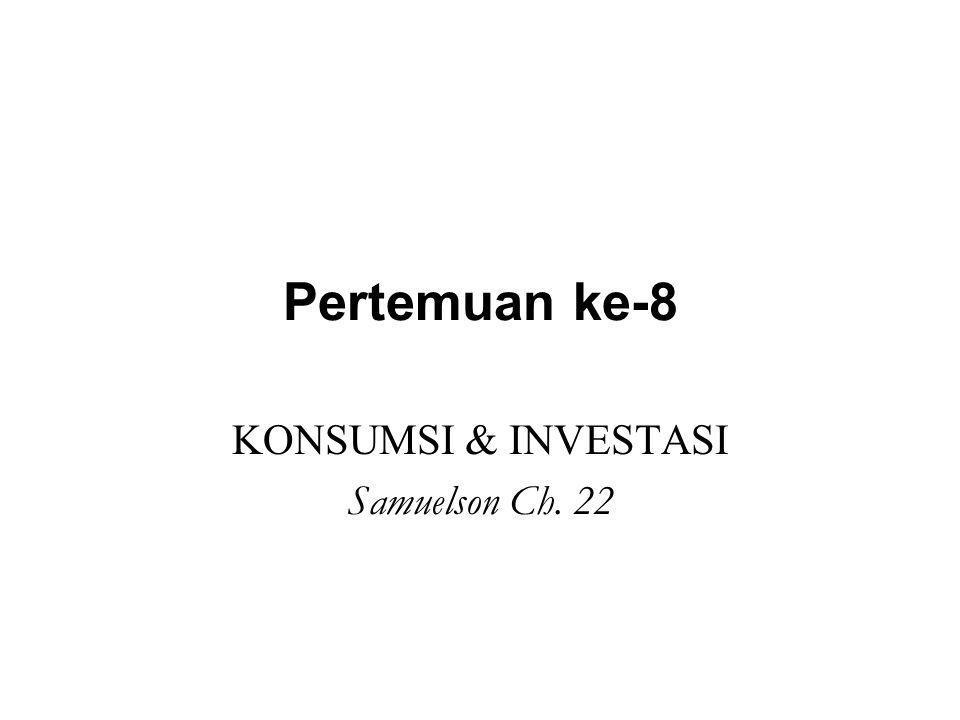 KONSUMSI & INVESTASI Samuelson Ch. 22
