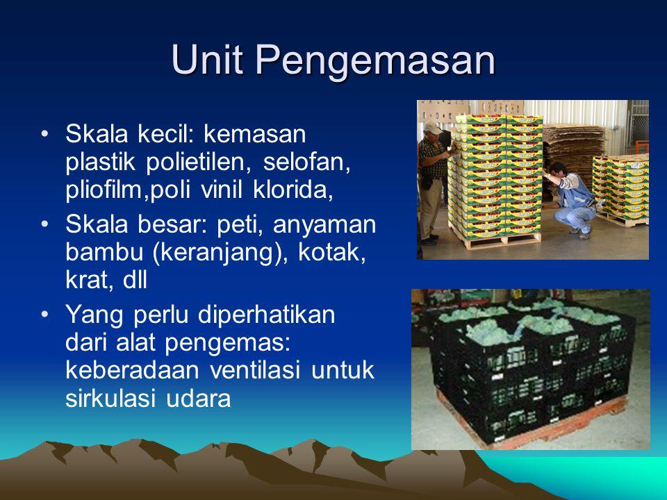 Unit Pengemasan Skala kecil: kemasan plastik polietilen, selofan, pliofilm,poli vinil klorida,