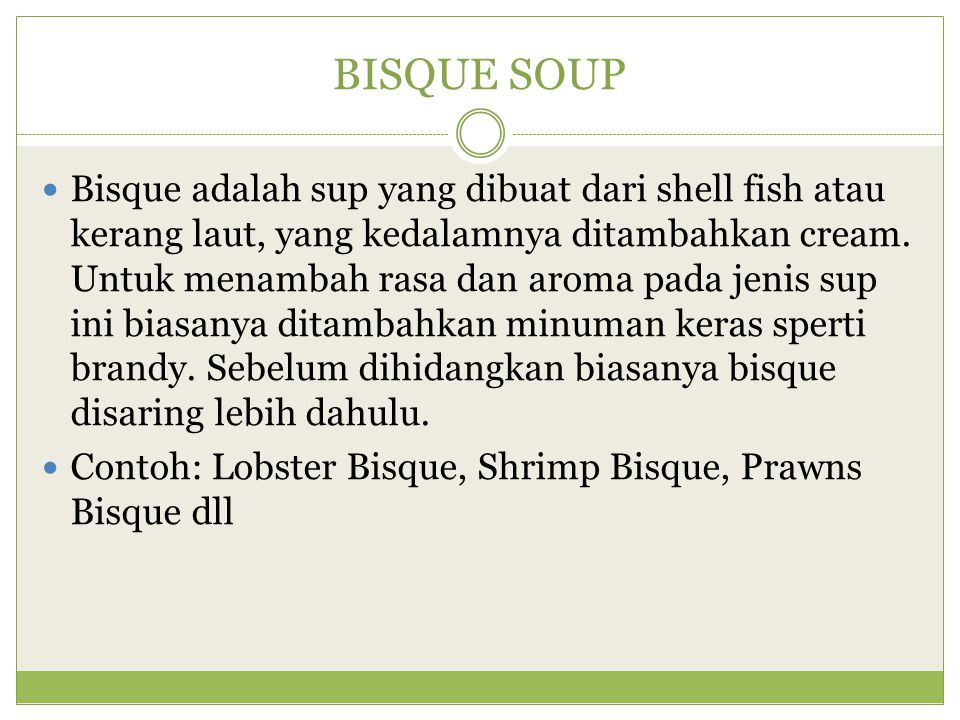 BISQUE SOUP
