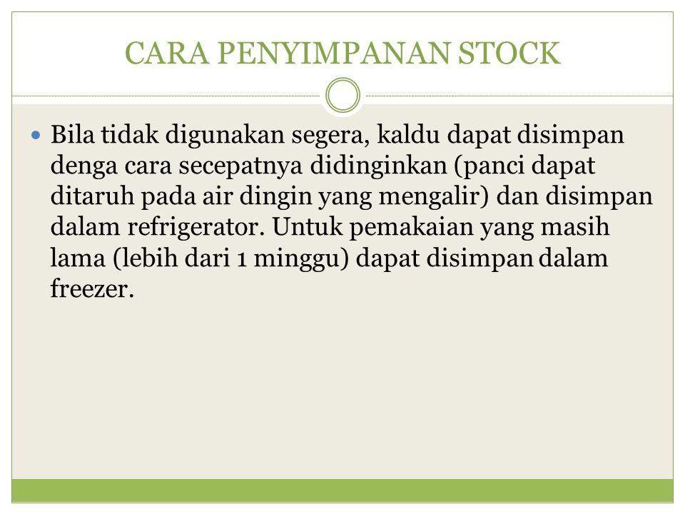 CARA PENYIMPANAN STOCK