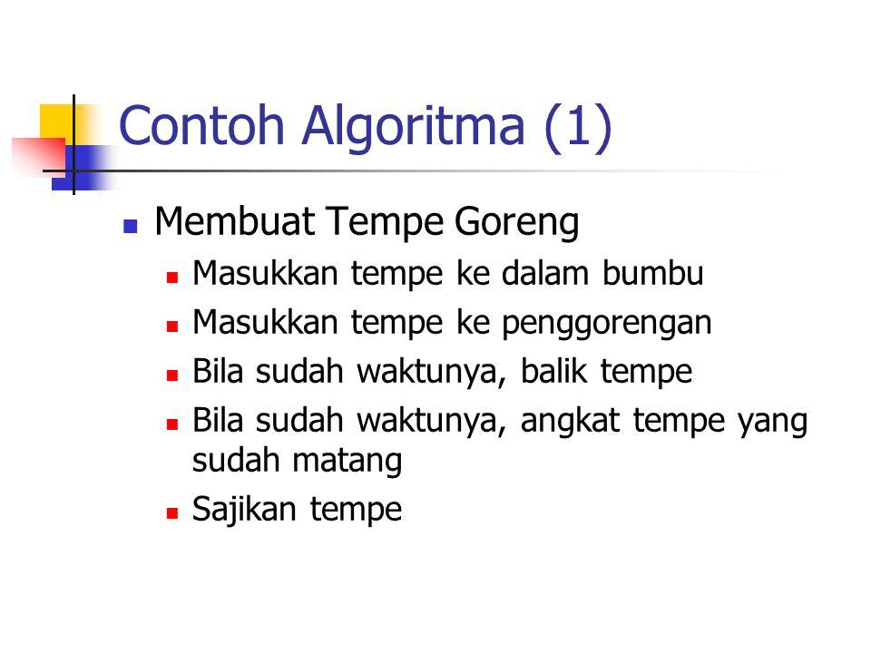 Contoh Algoritma (1) Membuat Tempe Goreng