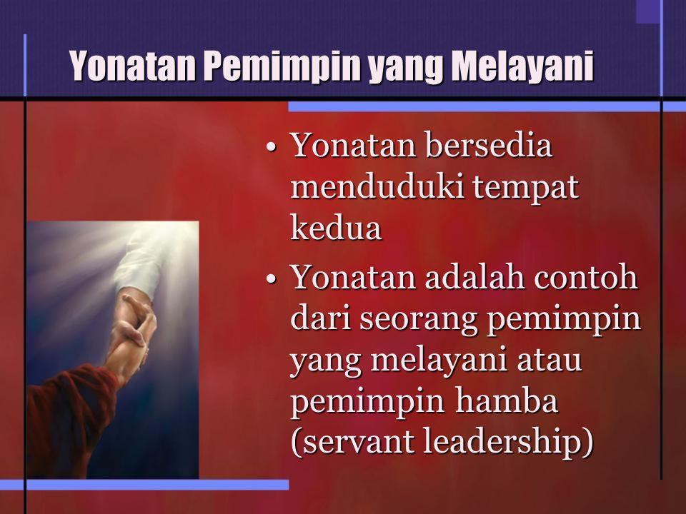 Yonatan Pemimpin yang Melayani