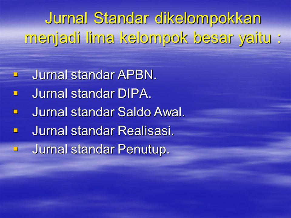 Jurnal Standar dikelompokkan menjadi lima kelompok besar yaitu :