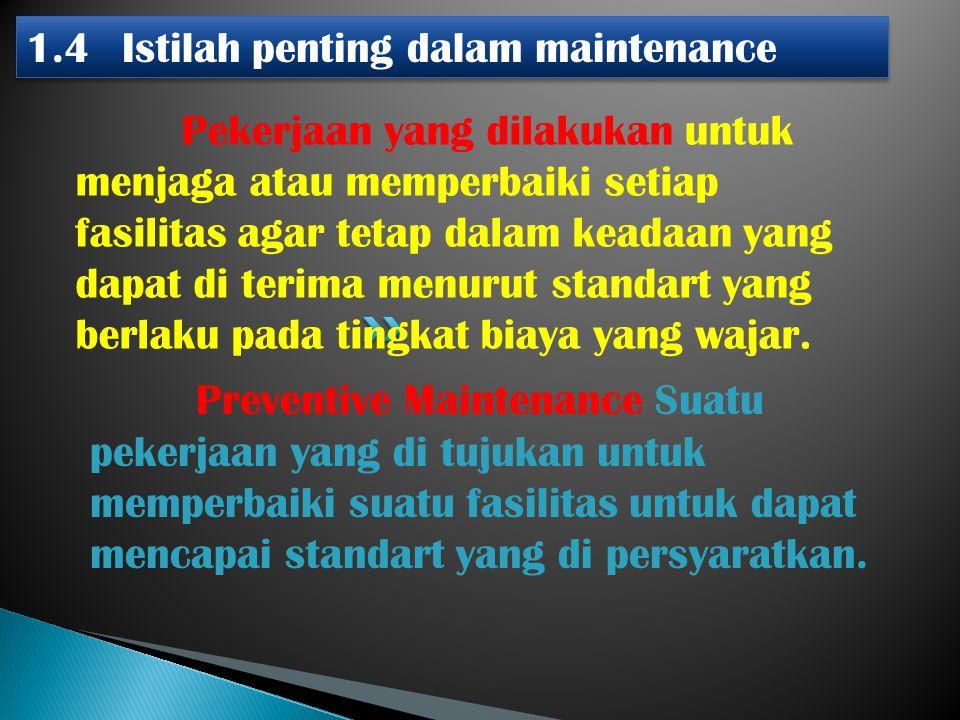 1.4 Istilah penting dalam maintenance