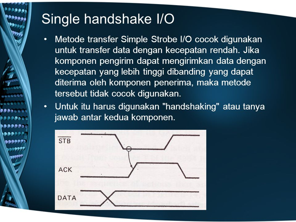 Single handshake I/O
