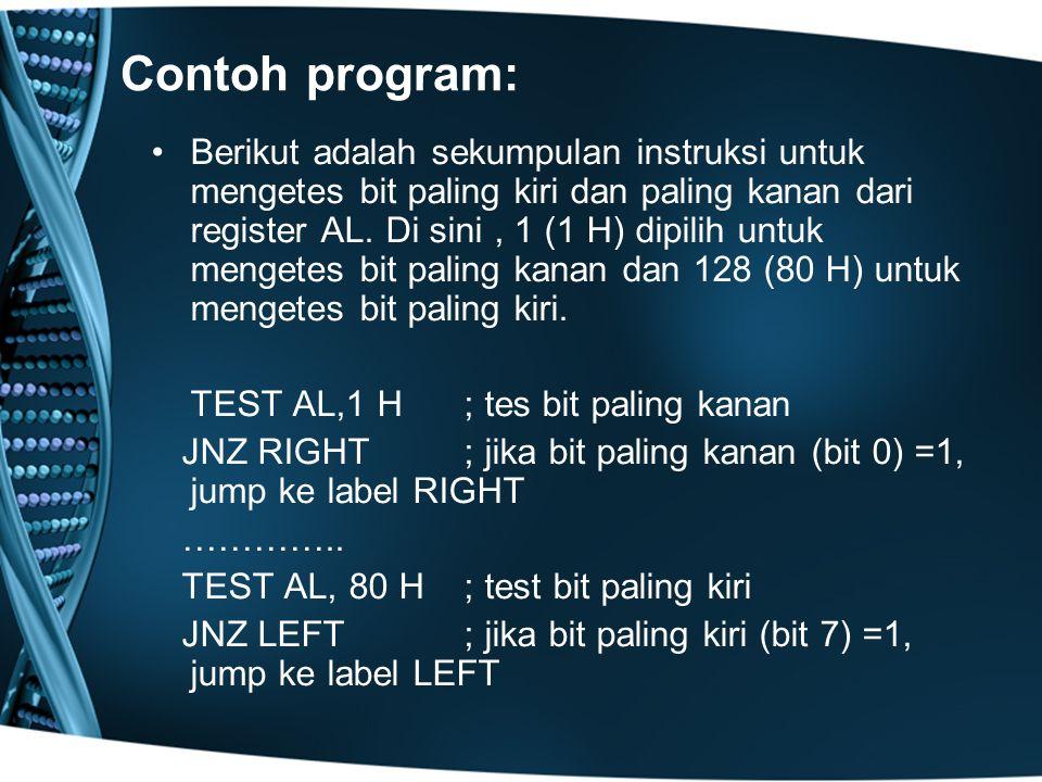 Contoh program: