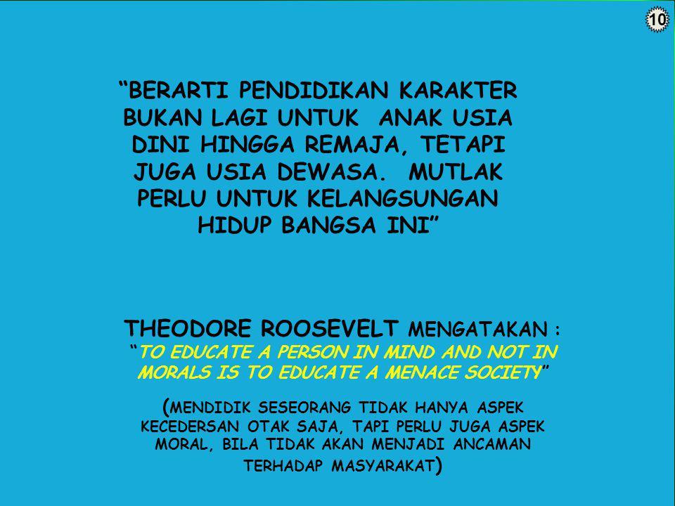 THEODORE ROOSEVELT MENGATAKAN :