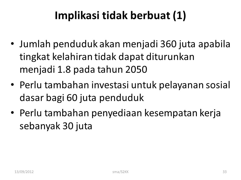 Implikasi tidak berbuat (1)