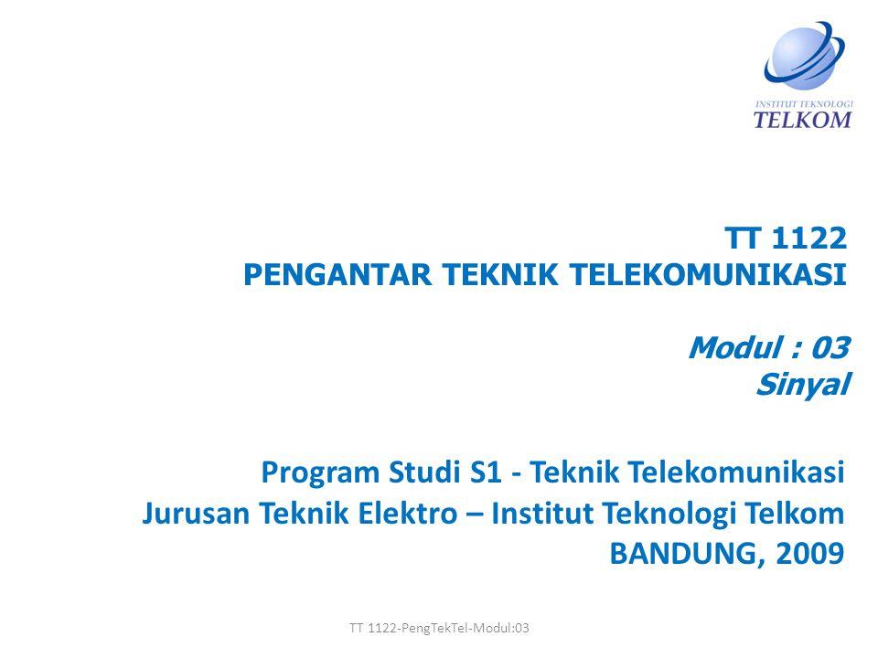 TT 1122 PENGANTAR TEKNIK TELEKOMUNIKASI Modul : 03 Sinyal