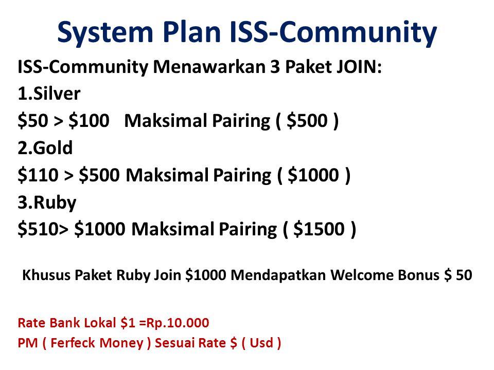 System Plan ISS-Community