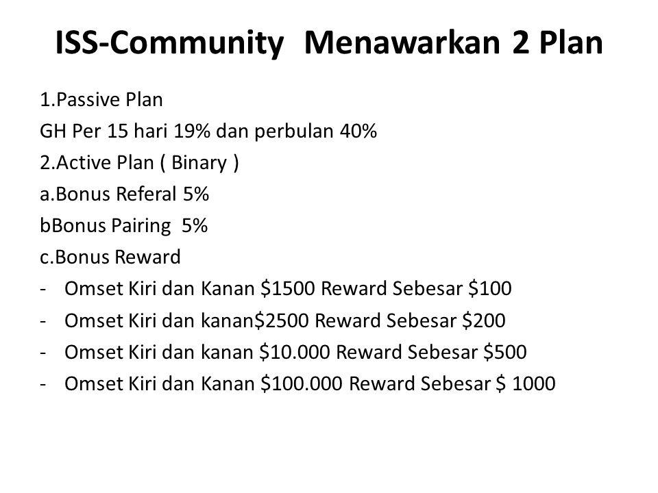 ISS-Community Menawarkan 2 Plan