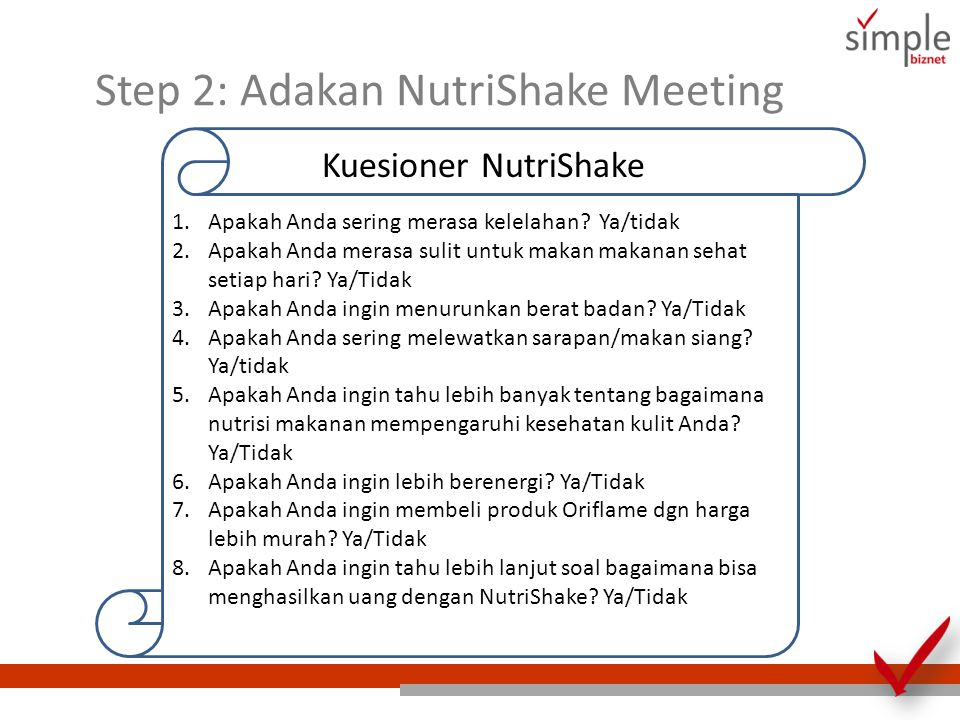 Step 2: Adakan NutriShake Meeting