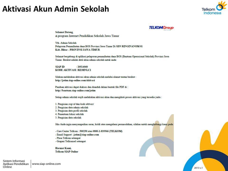 Aktivasi Akun Admin Sekolah